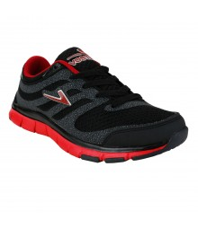 Vostro Black Red Sports Shoes for Men - VSS0043